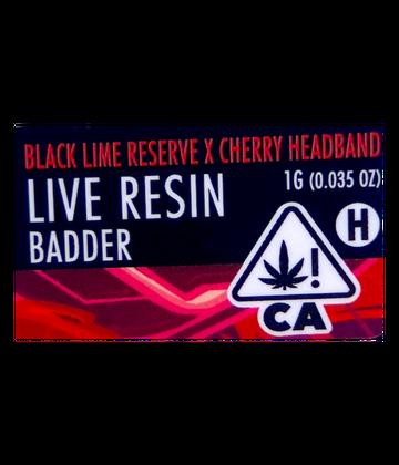 Black Lime Reserve x Cherry Headband (Live Resin Badder)