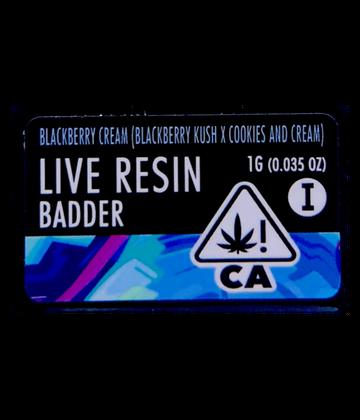 Blackberry Cream (Live Resin Badder)