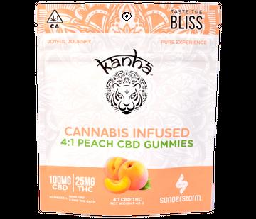 CBD Peach 4:1 (Gluten-Free) - 10 pk