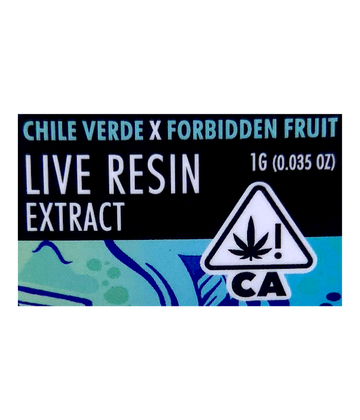Chile Verde x Forbidden Fruit (Live Resin Extract)