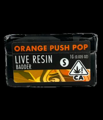 Orange Push Pop (Live Resin Badder)