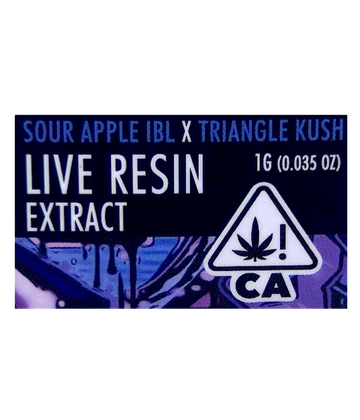 Sour Apple IBL x Triangle Kush (Live Resin Extract)