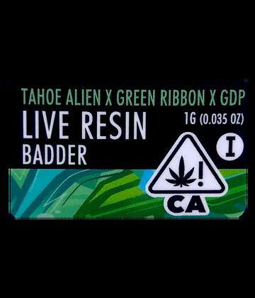 Tahoe Alien x Green Ribbon x GDP (Live Resin Badder)