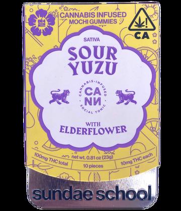 Sour Yuzu Mochi Gummies w/ Elderflower - 10 pk (Cann x Sundae School)